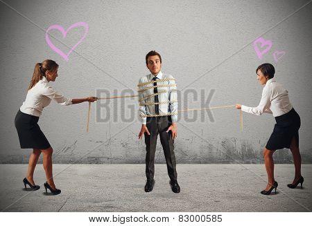 Business women in conflict