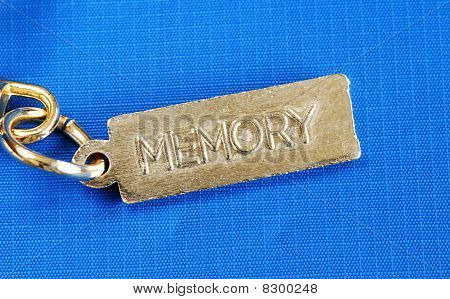 Keychain with the word Memory concepts of dementia or lost memory