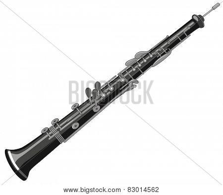 Illustration of a single oboe