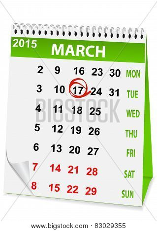 Holiday Calendar In St Patrick's Day