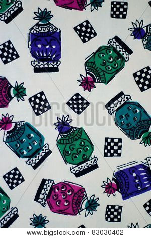 old textile, colored fabric, pattern and treds