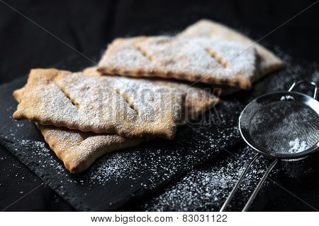 Chiacchiere typical of Italian sweet