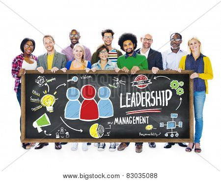 Diversity Casual People Leadership Management Banner Team Support Concept poster
