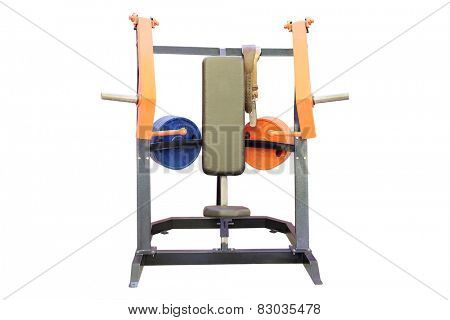 The image of gym apparatus  poster