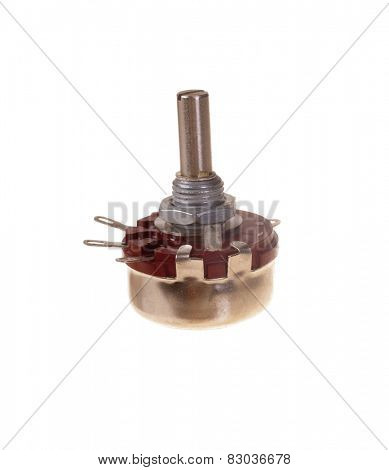 Generic potentiometer isolated on white