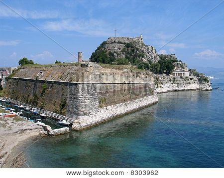 The venetian fortress in Corfu, Greece