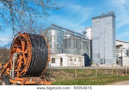 Storage Of Cereals, Production Of Biogas And Irrigator