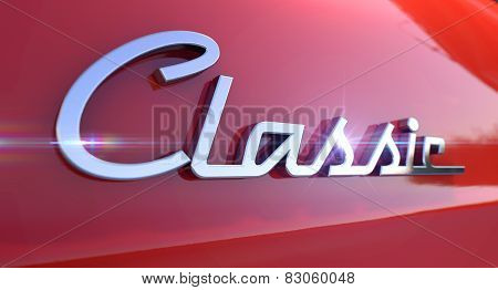Classic Chrome Car Emblem