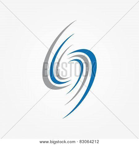 Spiral and swirls logo design elements