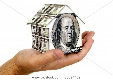 Money House In Hand