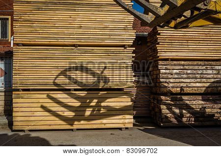 Stacked Wood Pine Timber