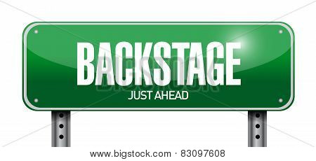 Backstage Road Sign Illustration Design