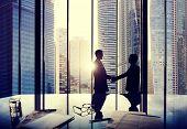 Business Handshake Agreement Partnership Deal Team Office Concept poster