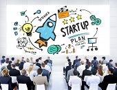 Start Up Business Launch Success Corporate Seminar Concept poster