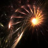 Fractal abstract of a sparkling firework poster