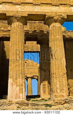 Detail from Temple of Concordia at Agrigento Valley of the Temple, Sicily
