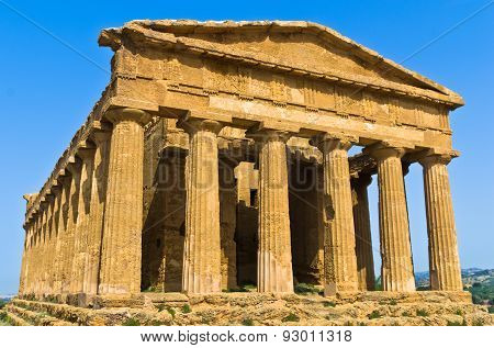 Temple of Concordia at Agrigento Valley of the Temple, Sicily
