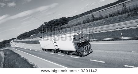 trucking concept on highway