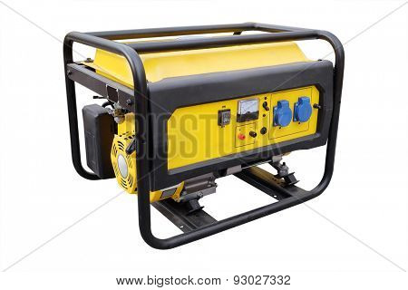 gasoline generator on white background