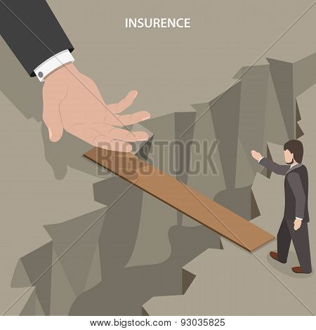 Insurance isometric vector concept