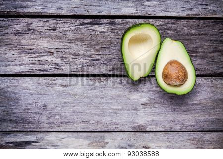 Fresh Raw Avocado Top View