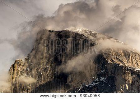 Snow Covered Yosemite Half Dome