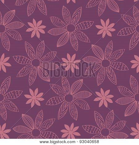 Seamless Cartoon Flower Background