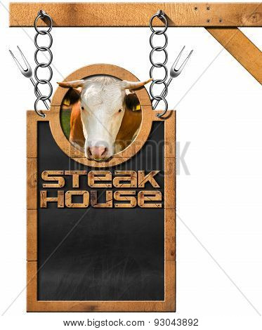 Steak House - Blackboard With Chain