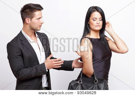 Man trying to flirt with a woman