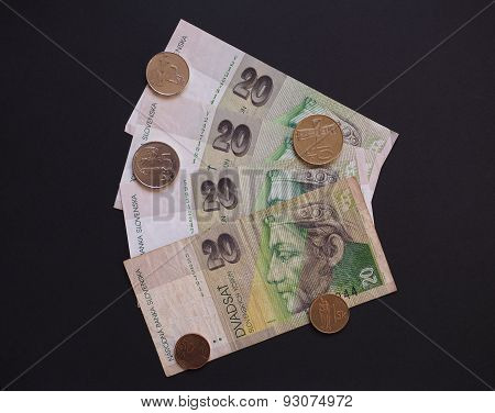 Slovak currency SKK withdrawn when Slovakia entered in the EUR area in 2008