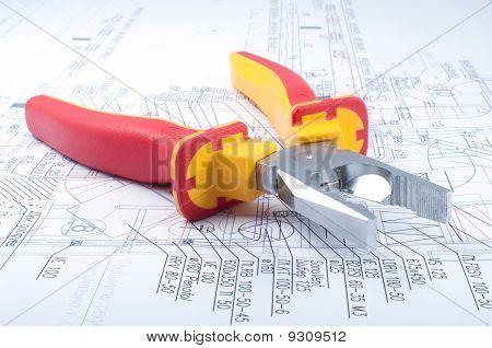 Pliers Tools On Diagram