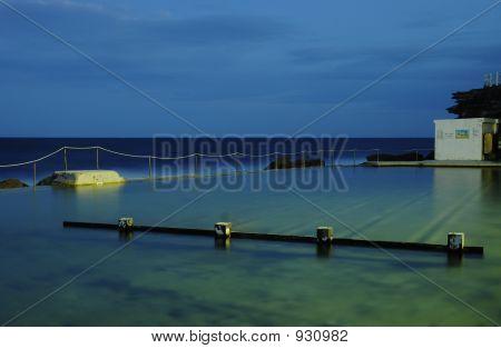Seaside Ocean Pool In Sydney At Sunset