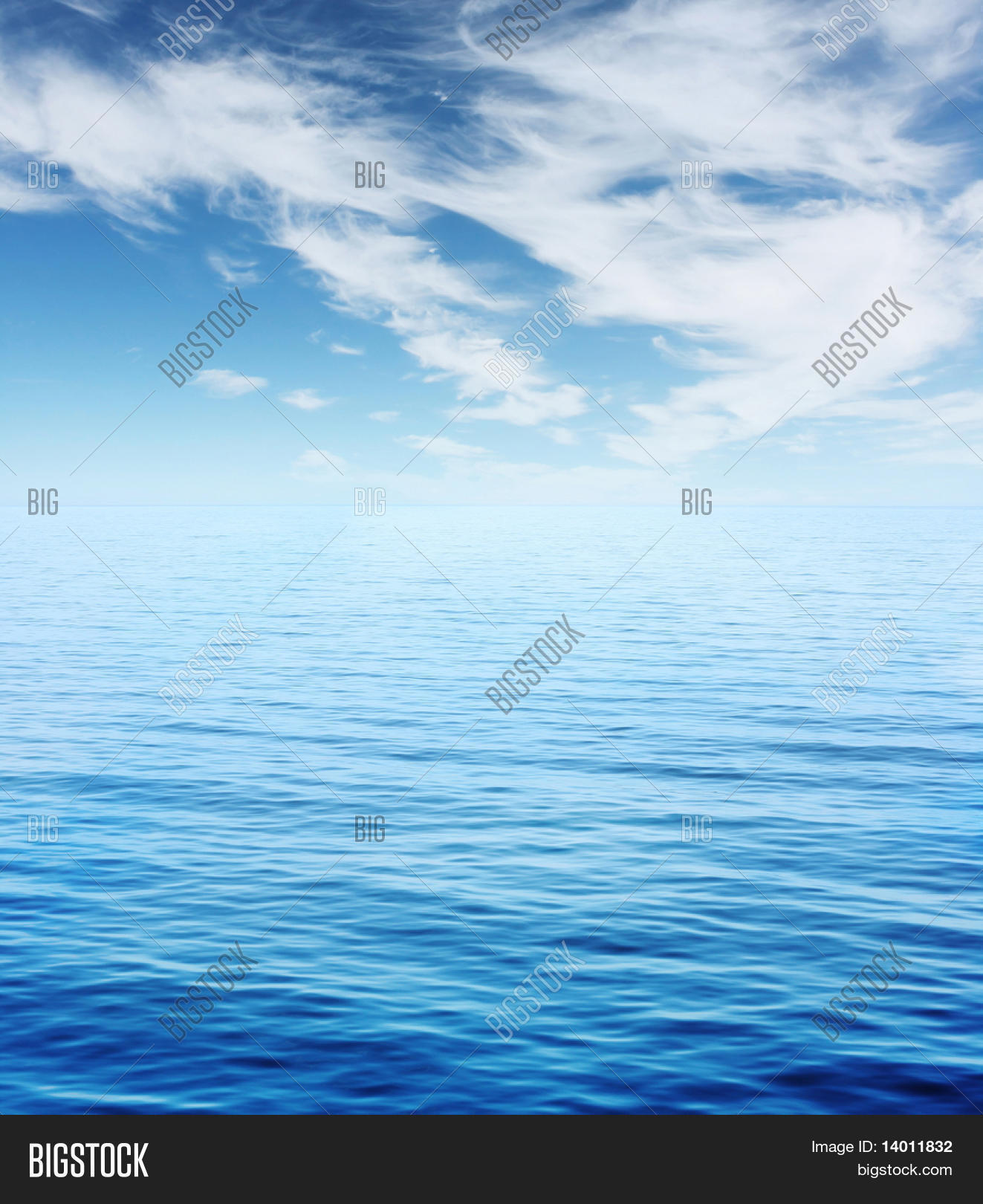 Blue Sea Sky Clouds Image & Photo (Free Trial) | Bigstock