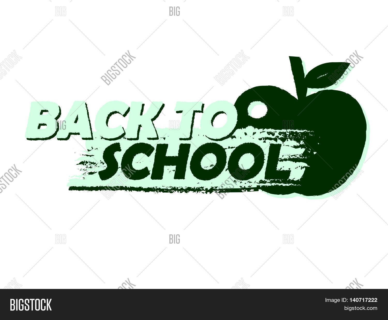 Back School Text Vector Photo Free Trial Bigstock