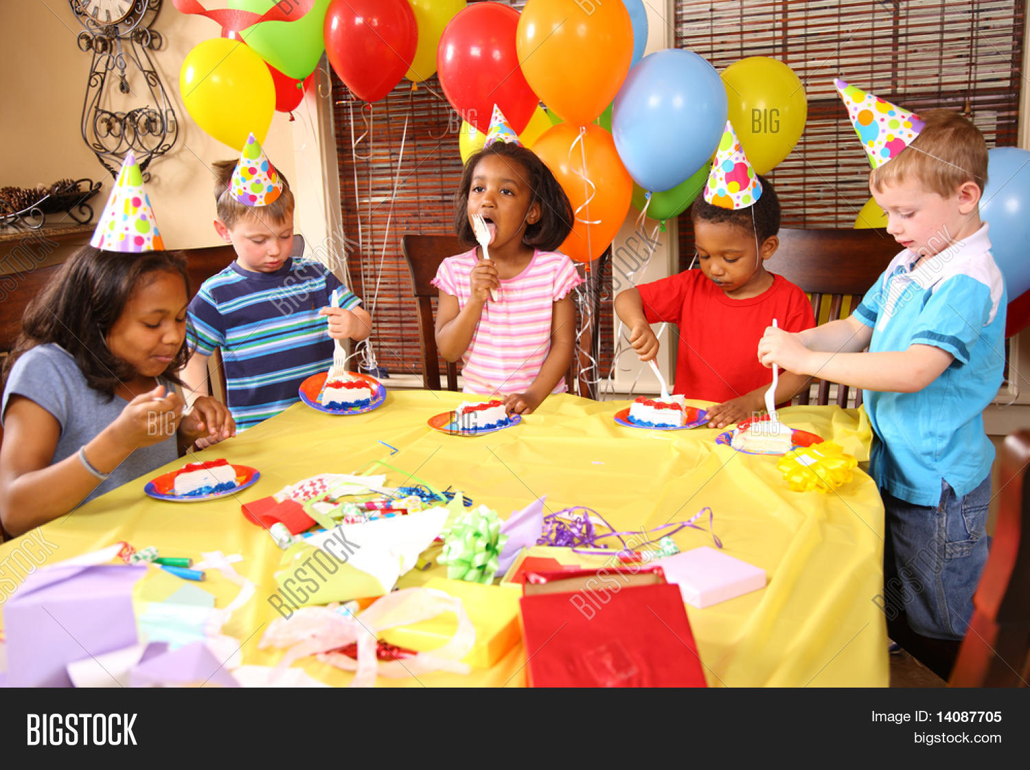 Miraculous Group Children Eating Image Photo Free Trial Bigstock Funny Birthday Cards Online Inifofree Goldxyz