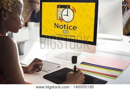 Notice Schedule Notes Impotant Task Concept