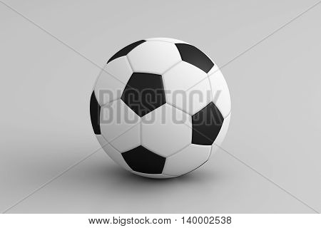 3D rendering of soccer ball isolated on white background.