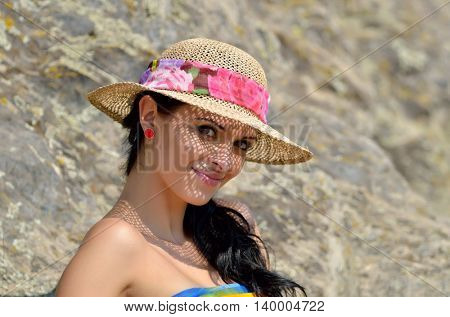 young woman portrait outdoor in summer