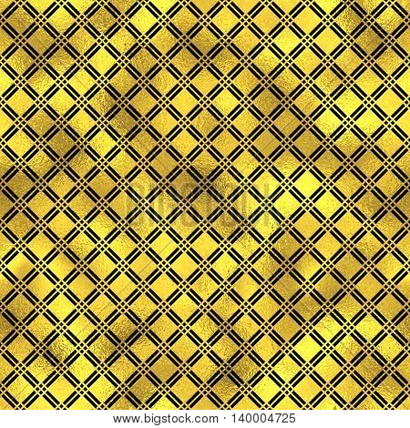 Seamless vector pattern with diamonds. Golden vector fashion background