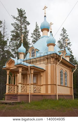 Valaam. Voznesenskaya a chapel on the mountain Eleon