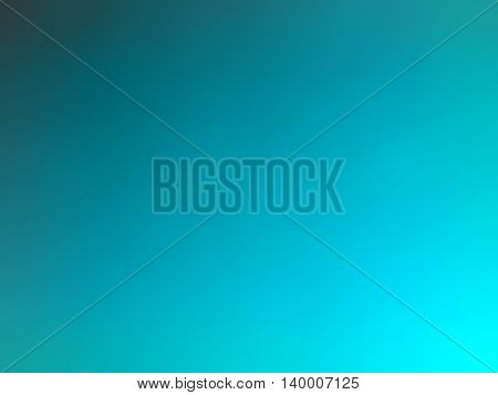 Abstract gradient turquoise teal colored blurred background.