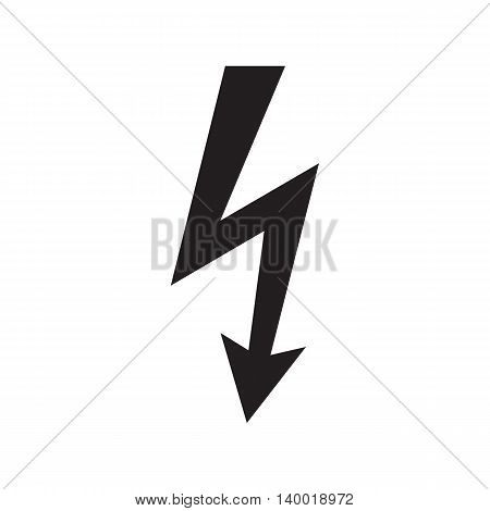 Icon danger high voltage isolated on white background. Vector illustration.