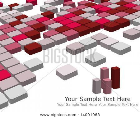 poster of Abstract 3d checked  business background for use in web design