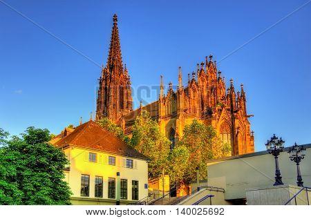 View of the Elisabethenkirche church in Basel, Switzerland