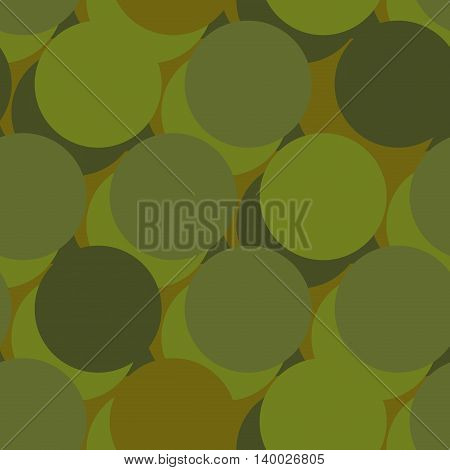 Military War Seamless Pattern. Army Abstract Circle, Round Texture. Protective Ornament For Soldiers