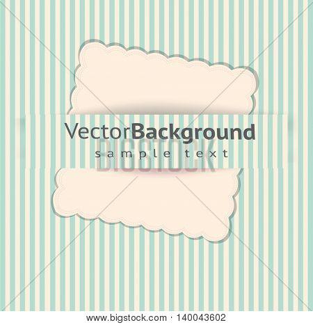 leaf paper on striped background