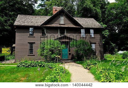 Concord Massachusetts - July 5 2013: Orchard House home to Louisa May Alcott from 1858 to 1877 and where she wrote her famed novel