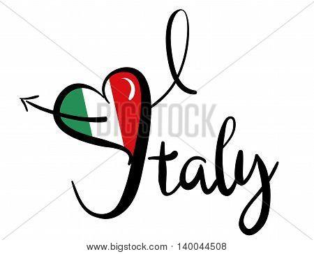 I Love Positano_red