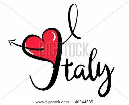 I Love Italy_red