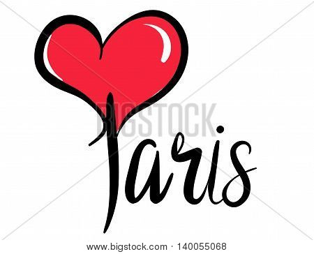 I Love (Heart) Paris - Vector Graphic